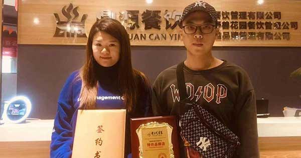 月初忙得不亦乐乎,广东江女士、湖南黄总签约加盟